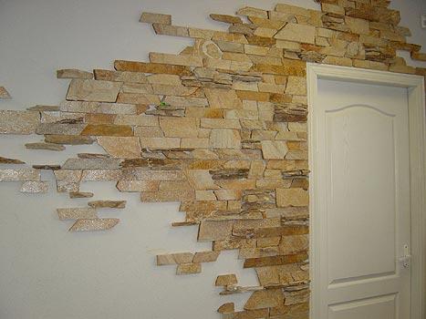 Штукатурка каменной стены